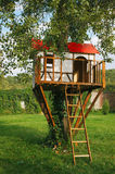 Cute small tree house for kids Stock Photography