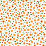 Cute small vector flowers seamless pattern Royalty Free Stock Photos