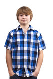 Cute smart happy smiling young boy Royalty Free Stock Image