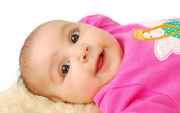 Cute Smile Little Baby Face. Royalty Free Stock Photo
