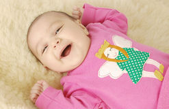 Cute Smile Little Baby Face. Stock Photos