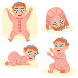 Cute smile little baby girl in pink pajama Royalty Free Stock Photo