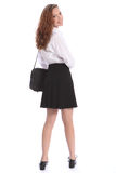 Cute smile teenage student girl in school uniform Royalty Free Stock Photography
