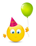 Cute smiley with balloon Stock Image