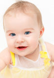 Cute smiling baby. Girl isolated on white Stock Photography