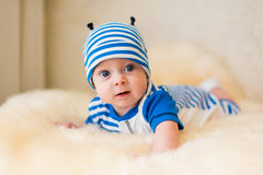 Cute smiling baby. Beautiful, cute, smiling, good-natured child Royalty Free Stock Photo