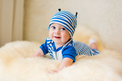 Cute smiling baby. Beautiful, cute, smiling, good-natured child Stock Photos