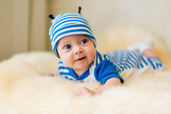 Cute smiling baby. Beautiful, cute, smiling, good-natured child Stock Photo