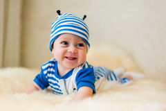 Cute smiling baby. Beautiful, cute, smiling, good-natured child Stock Image