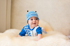 Cute smiling baby. Beautiful, cute, smiling, good-natured child Stock Photography
