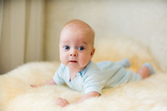 Cute smiling baby. Beautiful, cute, smiling, good-natured child Stock Images