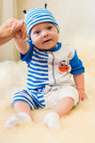Cute smiling baby. Beautiful, cute, smiling, good-natured child Royalty Free Stock Photography