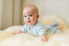Cute smiling baby. Beautiful, cute, smiling, good-natured child Royalty Free Stock Images