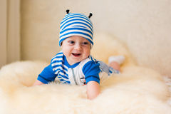 Cute smiling baby. Beautiful, cute, smiling, good-natured child Royalty Free Stock Image