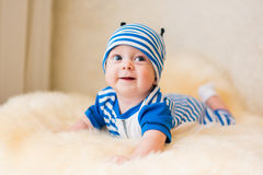 Cute smiling baby. Beautiful, cute, smiling, good-natured child Royalty Free Stock Photos