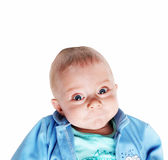 Cute smiling baby boy - five months old. On white background Stock Photography