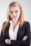 Cute smiling blond business woman Royalty Free Stock Image