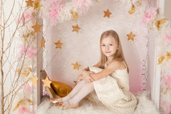Cute smiling blondy girl Stock Photo