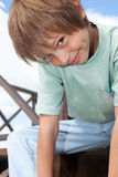 Cute smiling boy. Portrait of a very cute little boy smiling Royalty Free Stock Images
