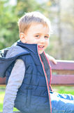 Cute smiling  boy outdoor Royalty Free Stock Photo