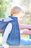 Cute smiling  boy outdoor Royalty Free Stock Images