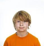 Cute smiling boy in studio Stock Photos