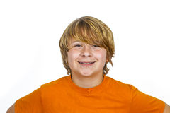 Cute smiling boy in studio. Cute handsome smiling boy in studio Royalty Free Stock Photo
