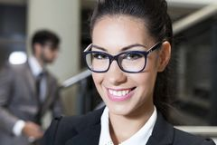 Cute smiling business female Stock Photos