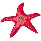 Cute Smiling Cartoon Starfish Royalty Free Stock Image