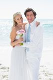 Cute smiling couple on their wedding day Stock Photography