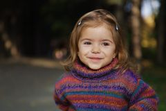 Cute smiling girl Stock Image