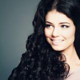 Cute smiling girl fashion. Portrait royalty free stock photo