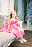 Cute smiling girl at home Royalty Free Stock Photos