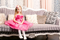 Cute smiling girl at home Royalty Free Stock Image