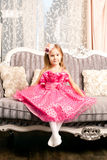 Cute smiling girl at home Royalty Free Stock Images