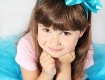 Cute Smiling Girl Portrait Stock Photo