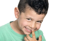 Cute smiling happy little boy Stock Photography