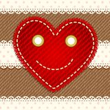 Cute smiling heart Stock Images