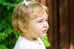 Cute smiling infant Stock Photo