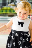 Cute smiling infant. Photo of beautiful cute smiling infant girl Stock Photos