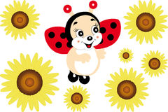 Cute smiling ladybug Royalty Free Stock Photography
