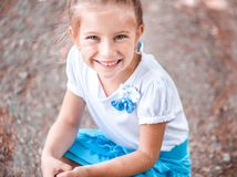 Cute smiling little girl Stock Photo