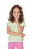 Cute smiling little girl royalty free stock photo