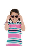 Cute smiling little hispanic girl in sunglasses Royalty Free Stock Photo