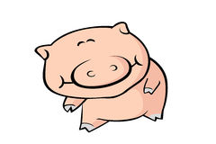 Cute Smiling Pig Royalty Free Stock Image