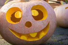 Cute smiling pumpkin to love royalty free stock photo