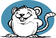 Cute Smiling Rat Stock Images