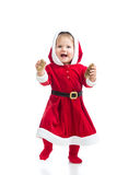 Cute smiling Santa Claus baby girl Royalty Free Stock Photo