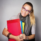 Cute smiling student girl Royalty Free Stock Photography