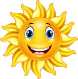 Cute smiling sun cartoon Stock Images